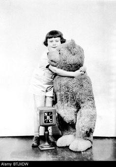 with a teddy bear