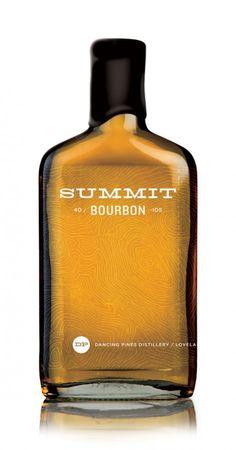 8 summit bourbon custom whiskey bottle design best clean minimal design packaging