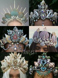 Awesome mermaid crown for a costume!!