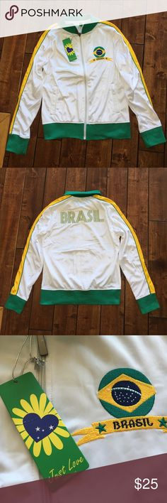 RIO Brasil Jacket BRAND NEW NEVER WORN Very comfortable, zip up, nylon material, VERY GOOD QUALITY,  NEVER WORN😊💥FEEL FREE TO MAKE ANY OFFERS OR ASK ME ANY QUESTIONS💥😊 Just Love World Cup Other