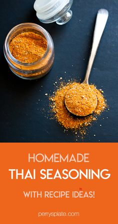 seasoning homemade recipes flavor exotic curry paste spice blend thai hint hand give have easy Homemade Thai Seasoning is a fun exotic spice blend to give recipes a hint of Thai flavor if you dYou can find Thai spices and more on our website Homemade Spice Blends, Homemade Spices, Homemade Seasonings, Spice Mixes, Asian Seasoning, Curry Seasoning, Seasoning Mixes, Seasoning Recipe, Curry Spices