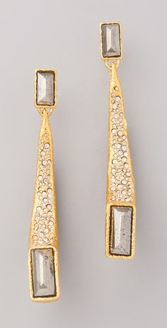 Because I don't have enough long, gold earrings (Alexis Bittar)