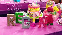 Shopkins hand painted letters! Party decorations!