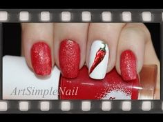 Роспись ногтей акриловыми красками - Маникюр Красный перец | Red Chili P...