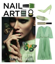 """Fabulous in green"" by kotnourka ❤ liked on Polyvore featuring beauty, OPI, Halston Heritage, Le Silla, Burberry, Max Factor and MAC Cosmetics"