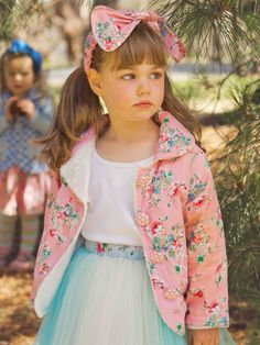 Lamby Is Fleece-Lined Vest And Designed In Oobi-Licious Prints. Love The Practicality, Warmth And Style Boho Flower Girl, Flower Girl Dresses, Floral Jacket, Jackets Online, Girly, Bohemian, Capes, Matilda, Wedding Dresses