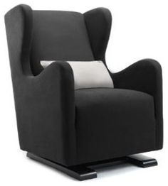 Monte Vola Glider in Bonded Leather, Black - great for nursery and then to other rooms #ConvertToBlack