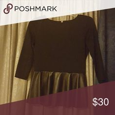 Top like new Lord and Taylor Leather bottom peplum top Tops Blouses