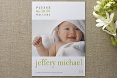 float + welcome Birth Announcements by Float Paperie at minted.com