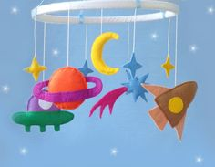 CIJ sale Baby crib Mobile Space -Baby crib Mobile -Baby  Mobile- crib Mobile - the rocket,star,sun,planet,the aliens
