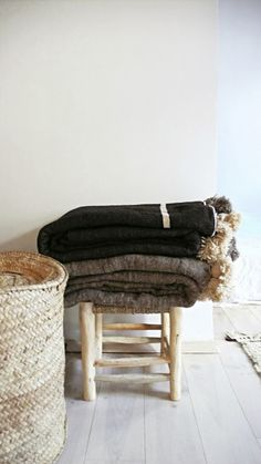 natural textiles. blankets.