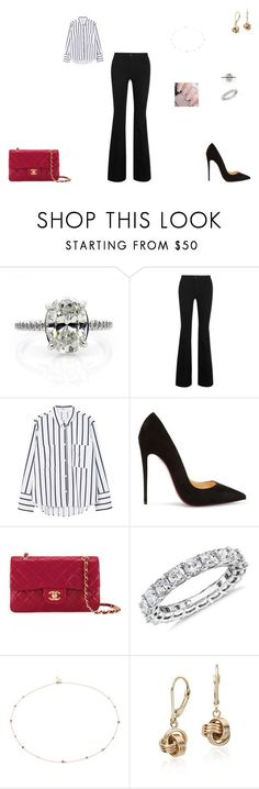 Sem título #1440 by crepusculo55 ❤ liked on Polyvore featuring STELLA McCARTNEY, MANGO, Christian Louboutin, Chanel and Blue Nile