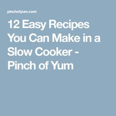 12 Easy Recipes You Can Make in a Slow Cooker - Pinch of Yum