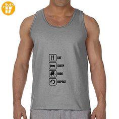 Eat Sleep Ride A Horse Repeat Black Graphic Men's Tank Top T-Shirt XX-Large (*Partner-Link)