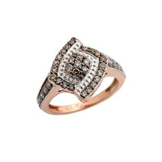 0.81 Carat Real Brown Diamond Engagement Ring Made in 925 Sterling Silver. #PrismJewel #Engagement #Birthday