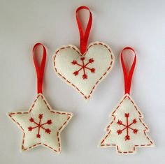Kreatív karácsony: varrjunk filc díszeket a fára! | Életszépítők
