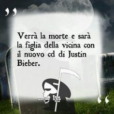 Verrà la morte e sarà la figlia della vicina con il nuovo cd di Justin Bieber.