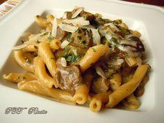 Penne ai funghi misti. #primopiatto #penne #funghi #misti #ricetta #recipe #italianfood #italianrecipe #PTTRicette