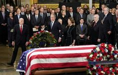 George H.W. Bush lying in state at U.S. Capitol December 3 , 2018