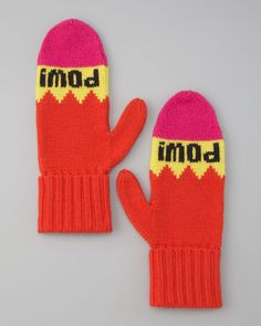 Kate Spade pow pow mittens