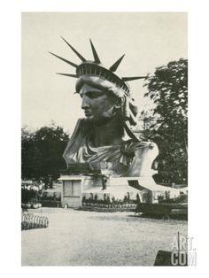 Statue of Liberty Head, New York Premium Poster at Art.com