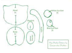 Mew Plushie Pattern by Plushbox.deviantart.com