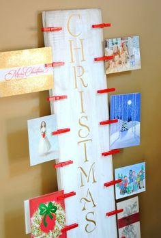 Holz Brett zum Aufhängen der Postkarten