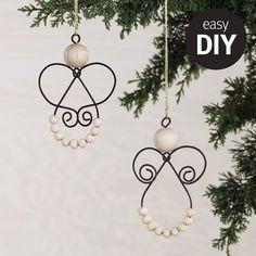 Enkelt DIY - gör en trådängel till granen! #pandurohobby #panduropyssel #panduro #julpyssel #jul #diy #diychristmas