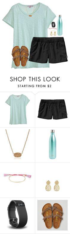 """the lake!!"" by melaniebethc ❤ liked on Polyvore featuring Calypso St. Barth, Patagonia, Kendra Scott, S'well, Stella & Dot, Accessorize, Fitbit and American Eagle Outfitters"
