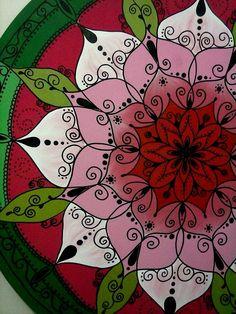 Mandala Flor MDF 80 cm Arte de Rosangela Bavaresco