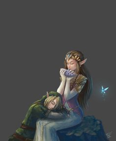 Zelda and Link by EshiraArt.deviantart.com on @deviantART