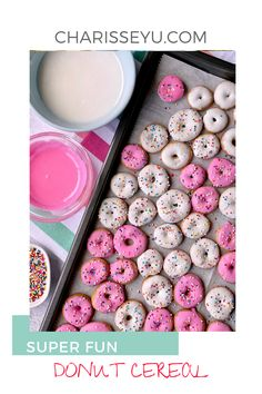 This donut cereal recipe is so so fun! It's perfect for a summer activity with the kids and is so delish. Not to worry, I've created an easy shortcut to make this recipe into a 30 minute meal. Breakfast On The Go, Quick And Easy Breakfast, Easy Toddler Meals, Kids Meals, Donut Icing, Cereal Recipes, 30 Minute Meals, Fun Activities For Kids, Donuts