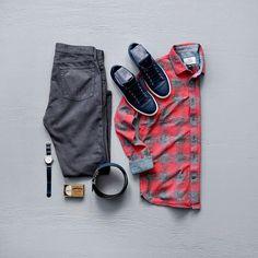 Men's Casual Fashion #menswear #mensfashion #menstyle #sneakers #flannel