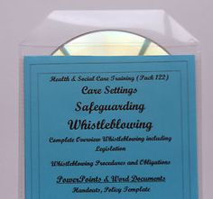 Training Resources CD Care Home Whistleblower Procedures & Policy Template