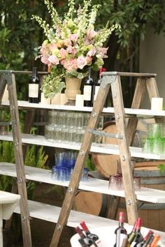 Vineyard Laddered Back Bar   Town & Country Event Rentals