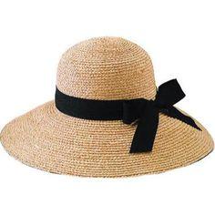 Women's San Diego Hat Company Raffia Brim Hat RHL13C / Ribbon