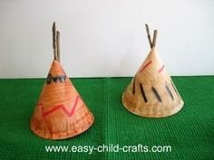 17. Paper Plate Teepees - 20 Fun Pilgrim Crafts for Kids This…