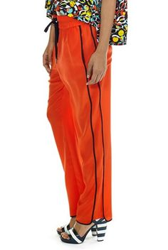Marc by Marc Jacobs Frances CDC Silk Pant in Bright Red