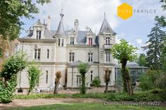 19th century chateau near the Loire river. Available for holiday rental for 14 people with heated pool and large grounds. See more at www.purefrance.com