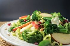 Broccoli and Apple Salad with Maple Mustard Dressing - Weight Watchers | The Slender Kitchen