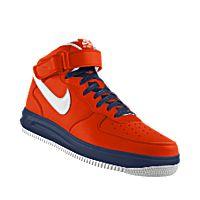 I designed the orange, white and dark blue Morgan State Bears Nike Air Force 1 Mid iD women's shoe.