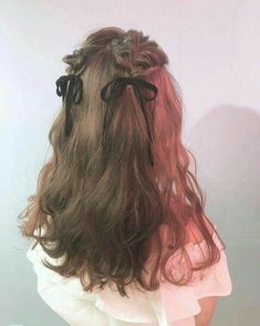 Kawaii Hairstyles, Pretty Hairstyles, Braided Hairstyles, Teenage Hairstyles, Hairstyles Videos, Hair Inspo, Hair Inspiration, Aesthetic Hair, Grunge Hair