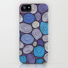 Seamless circles hand-drawn pattern, circles background. iPhone & iPod Case by Smotrivnebo - $35.00