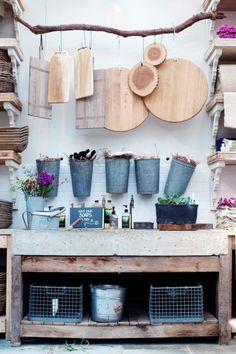Love this rustic display. Shop Terrain