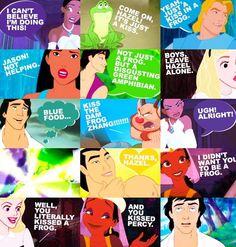 Disney characters... Heroes of Olympus characters... YES