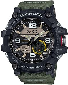 online shopping for Casio Casio G-Shock Mudmaster Twin Sensor Mens' Sports Watch (Black) from top store. See new offer for Casio Casio G-Shock Mudmaster Twin Sensor Mens' Sports Watch (Black) Men's Watches, Casio G Shock Watches, Luxury Watches, Cool Watches, Watches For Men, Wrist Watches, Timex Watches, Analog Watches, Jewelry Watches