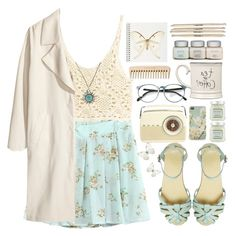 25. Light and airy! by raquel-t-k-m on Polyvore featuring polyvore, fashion, style, H&M, ASOS, Lucky Brand, Laura Mercier and Expressions