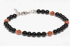 Bijoux de cheville/ Bracelet de cheville/ pierre de Gemmes Ankle Jewelry, Ankle Bracelets, Beaded Bracelets, Agate Stone, Stone Beads, Black Agate, Anklet, Bracelet Making, Gemstones