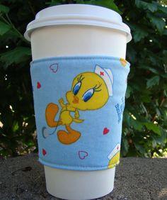 Nurses are Tweet Fabric Coffee Cozy by MyCozyCabinCreations, $4.00