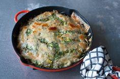 hvordan lage Luksusomelett Quiche, Breakfast, Food, Omelet, Morning Coffee, Essen, Quiches, Meals, Yemek